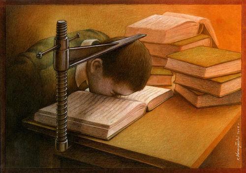 head in book