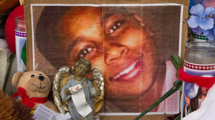 Memorial for Tamir Rice, 12-year-old shot dead by Police in Cleveland